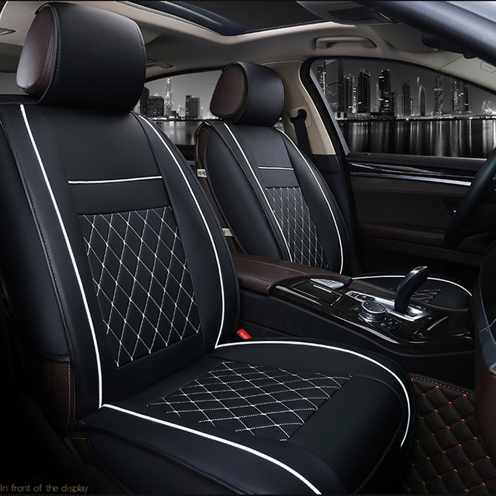 1X Front Seat Covers Car Cushion PU Leather Universal Auto Interior Accessories