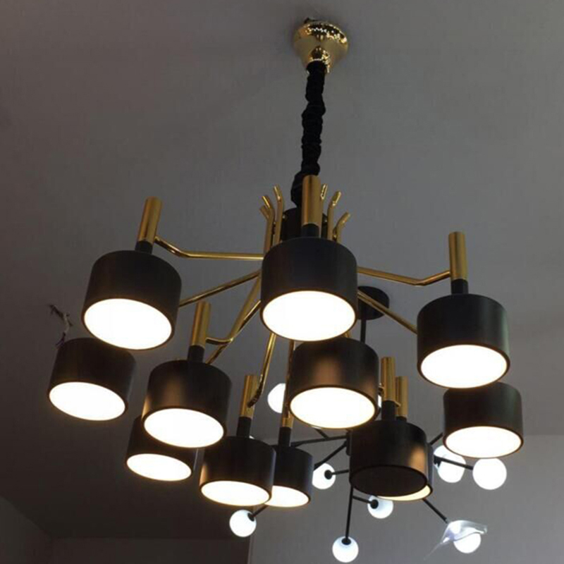 LED Pendant Lights For Living Room Bedroom Drop Gold Pendant Lamp Loft Russia Decoration Lighting For Hotel Lobby Free Shipping a1 master bedroom living room lamp crystal pendant lights dining room lamp european style dual use fashion pendant lamps