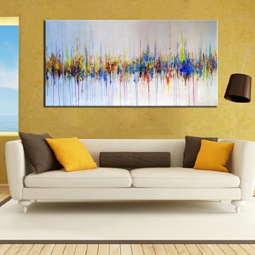 Hand Painted Poster Wall Art Canvas Oil Painting Modern Abstract ...