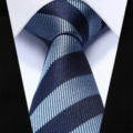 """TZS07B6 Azul Marinho Stripe Magro Narrow 2.6 """"100% Natural de Seda Homens Gravata do laço da Festa de Casamento Gravata"""