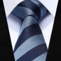 "TZS07B6 Navy Blue Stripe Slim Narrow 2.6"" 100% Natural Silk Men Tie Necktie Party Wedding Tie"