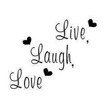 Live Laugh Love Wall Sticker Home Decor Art Saying Words Phrases Decals printio love laugh live
