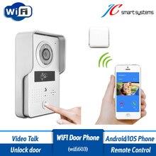 ACTOP interfone Wifi603 WiFi videoportero videoportero inalámbrico timbre de la puerta con lector de tarjetas RFID para la puerta de acceso de seguridad