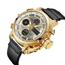 Oulm Dual Display Analog Digital Quartz Watches Men Top Brand Luxury Gold Sports horloge heren herren uhren