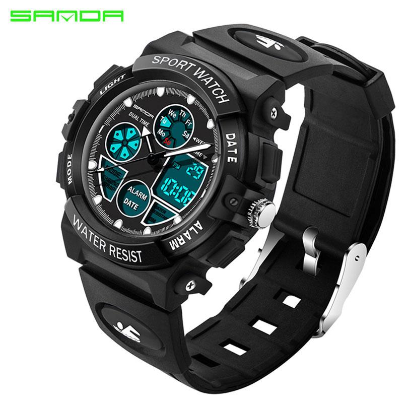 SANDA Brand Waterpoof Sport Children Watch Kids Watches Girls Boys Electronic Clock Child LED Digital Wristwatches For Girl Boy