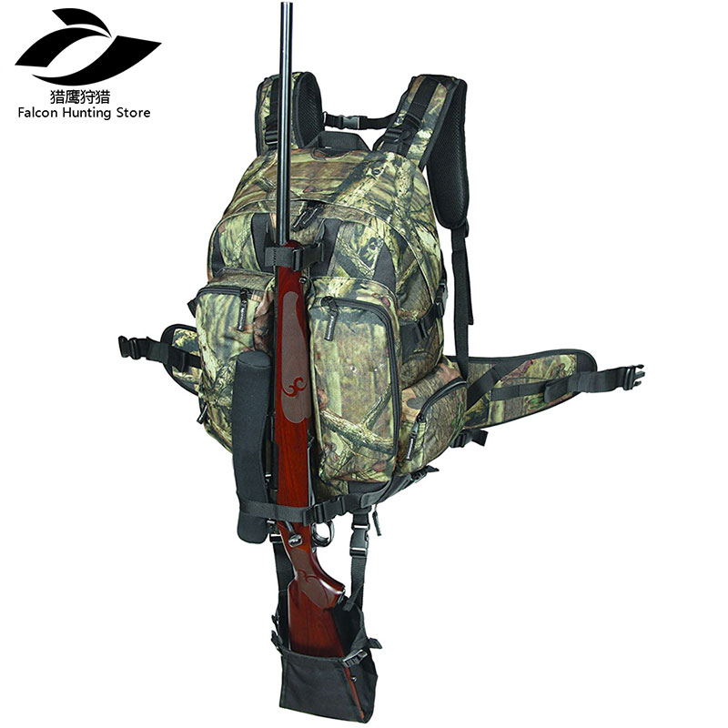 Camouflage Tactical Rifle Backpack Hunting c Gun Bag Airsoft Paintball gun Daypack with Integrated Gun Carry