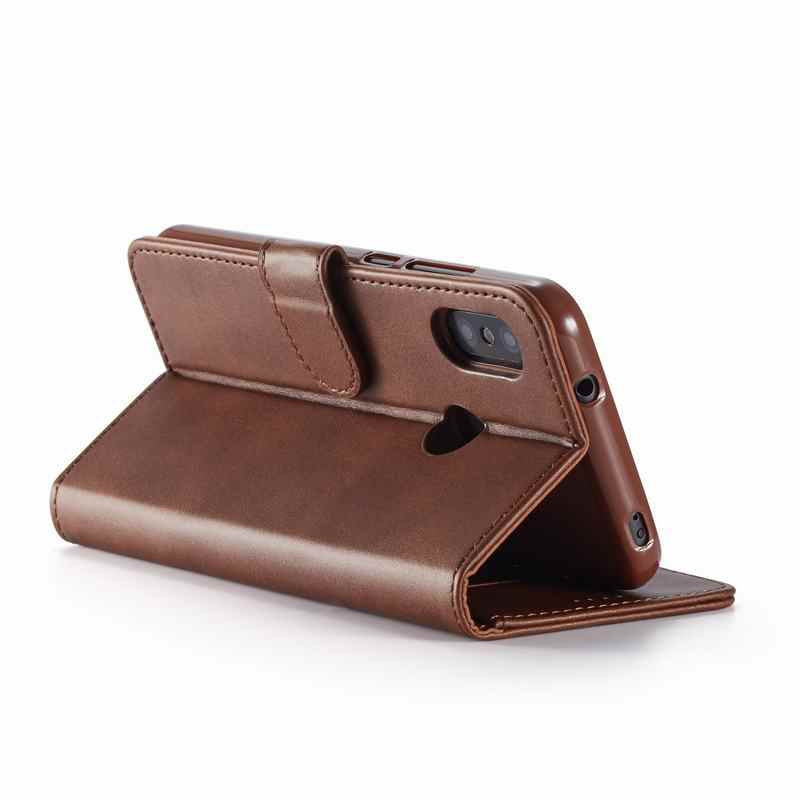 Trường hợp Cho Xiaomi Redmi Note 7 Pro Bao Luxruy Từ Tính Lật Đồng Bằng Kinh Doanh Ví Da Túi Đựng Điện Thoại Redmi note 7 Coque