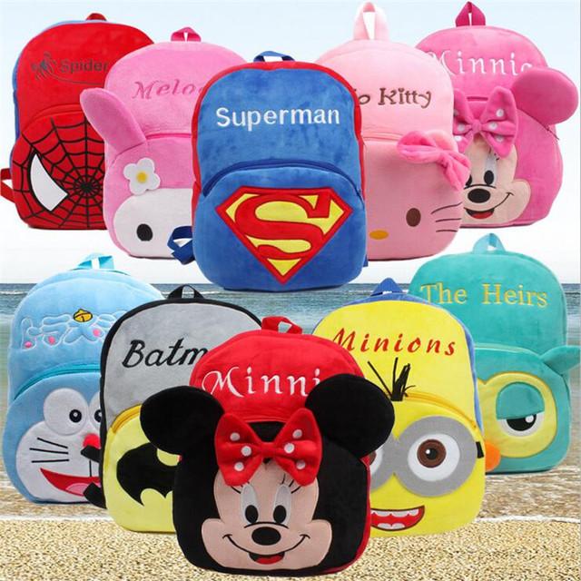 Parque de infância educação infantil do bebê bonito dos desenhos animados Mickey Minnie Grande escola Mochilas De Pelúcia mochilas 4-5 anos de idade 0652