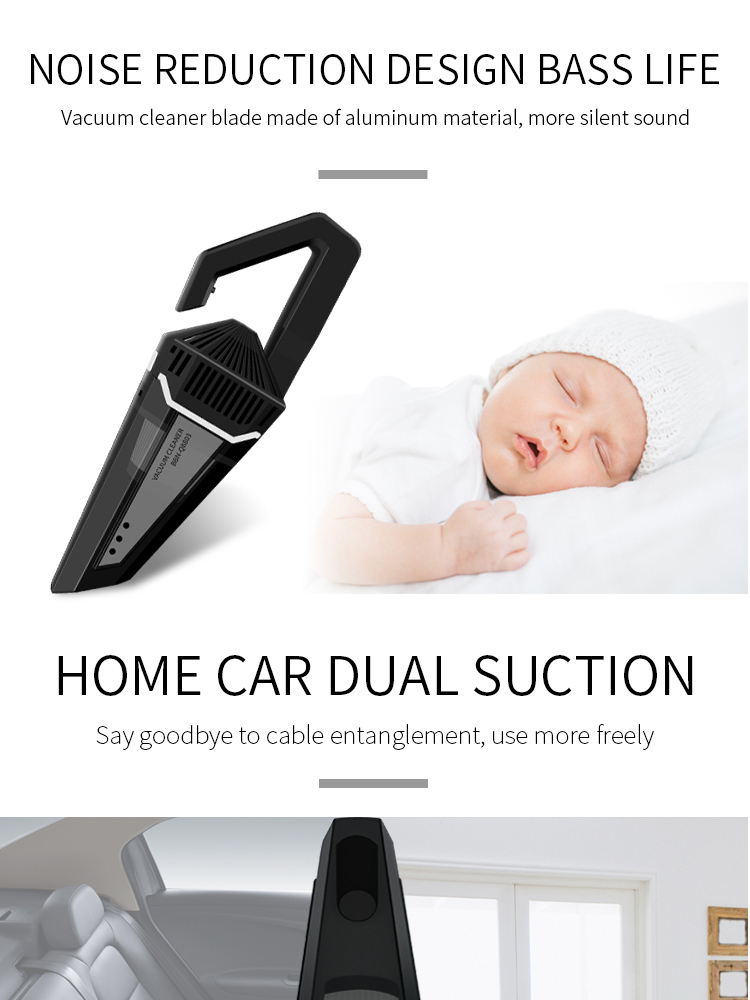 Details about Portable Wireless Car Vacuum Cleaner Tool Wet & Aspirador  Pressure Pneumatic12V