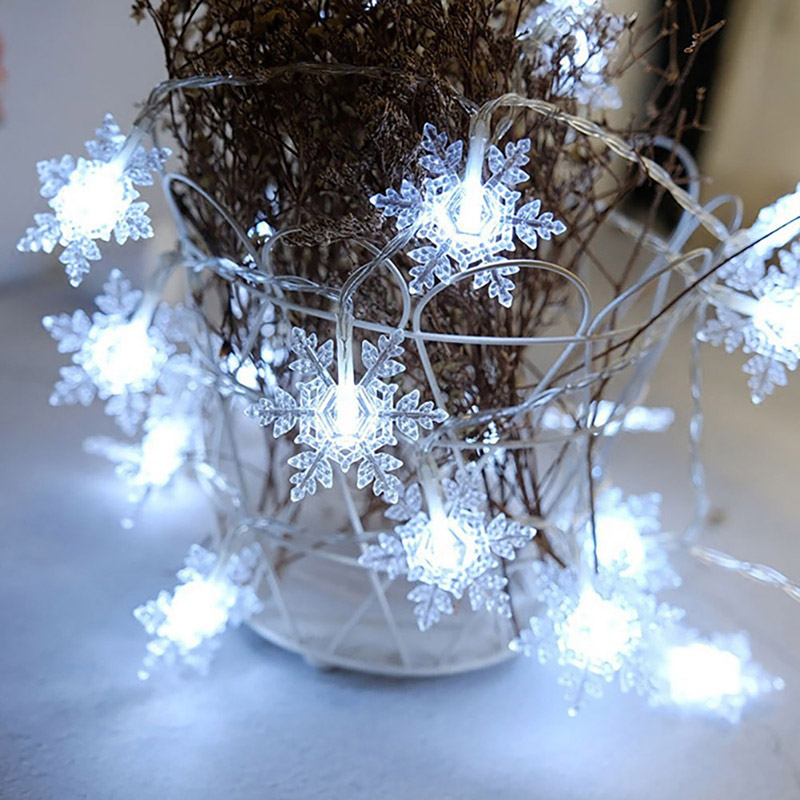 5M 40Leds 8 Mode 2 Color Snow Flakes Led String Fairy Light Decorate Christmas Tree Christmas Decorations худи print bar decorate tree