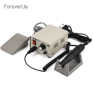 Image 1 - Strong 90 65W 35000RPM Professional Electric Nail Art Drill Machine Stainless Steel Pedicure Nail Polishing Manicure Machine
