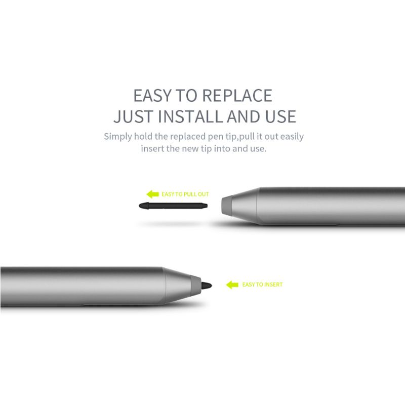 3pcs/lot Scratch-proof Replacement Magnetic Touch Stylus Pen Tip For  Microsoft Surface Pro 5 4 Refill Capacitive Pen Point