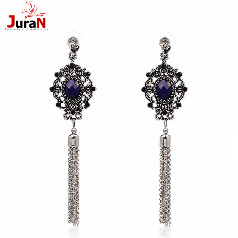 Aliexpress.com : Buy JURAN HOT 2017 New Chain Tassel Crystal Stud ...