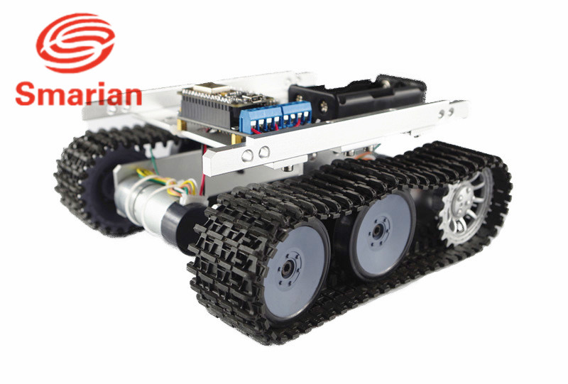Official smarian Wireless WiFi Robot Tank Car Chassis TP100 Caterpillar Clawler DIY Toy Robot Remote Control Tracked Vehicle by