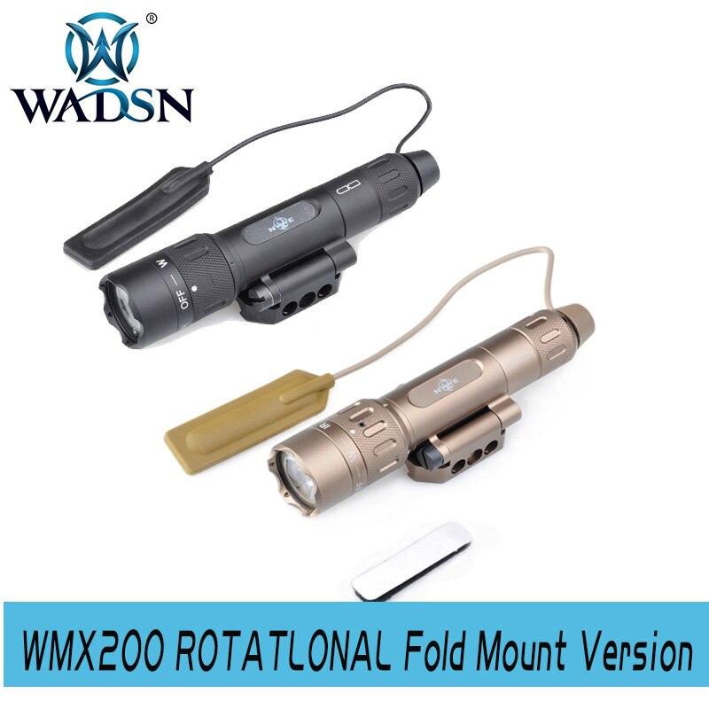 WADSN surefir tactique arme pistolet lumière laser WMX200 rotatif pli monture Version WNE08036