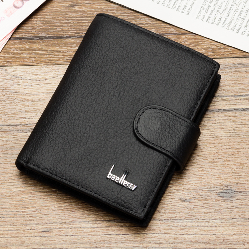 retro litchi grain men short wallet Genuine cowhide Leather male purse Coin Pocket Carteira Masculina Couro cltuch for teenager