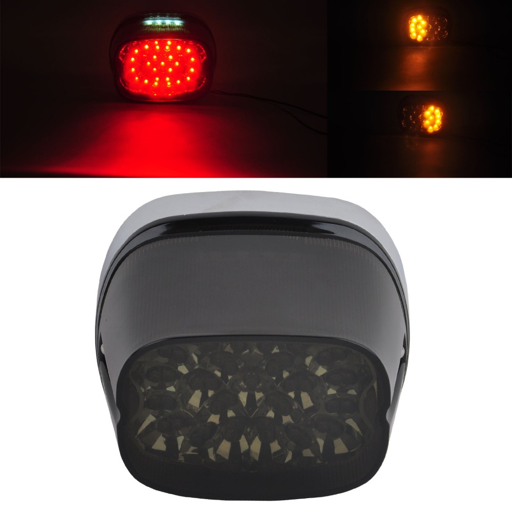 Smoke Lens LED Tail Signal Light Lamp Harley Softail 96-08 Sportster Dyna Glide - China Motorcycle store