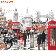 Big Ben UK London Landscape Pictures By Numbers DIY Handpainted Wall Painting New Gift Coloring Number Arts For Home Decor