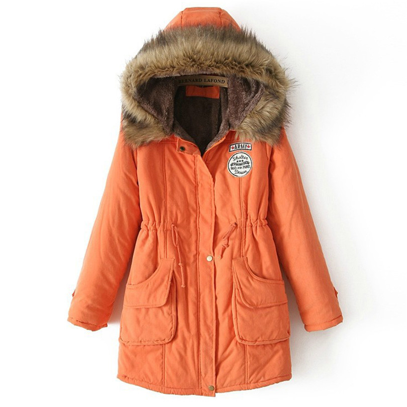 Winter Women Jackets 2018   Parkas   For Woman 13 Colors Wadded Jackets Warm Outwear With A Hood Large Femme Thick Coats