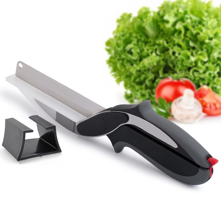 Multi-Purpose High-Class Stainless Steel Smart Vegetable Chopper Excellent Fruit Cutting Tool Kitchen Easy Cutter Knife Scissor