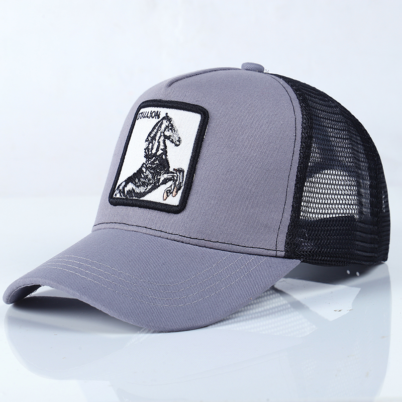 96c746d8968 Dropwow Animals embroidery baseball cap men women hip hop streetwear mesh casual  snapback bone brand farm outdoor adjustable sports cap