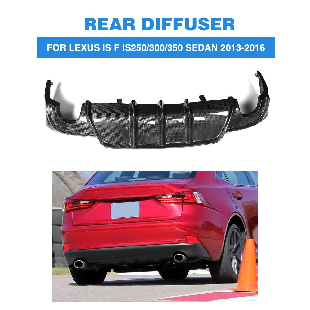 Rear Bumper Diffuser Lip Spoiler For Lexus IS IS250 IS300 IS350 13-16 IS F Sedan 2013-14 Carbon Fibre dual exhaust One outlet 2007 bmw x5 spoiler