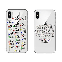 Stranger Things Christmas Lights High quality Soft silicone TPU Transparent Phone Cover For iPhone X 10 5 5S SE 6 6S 7 8 Plus