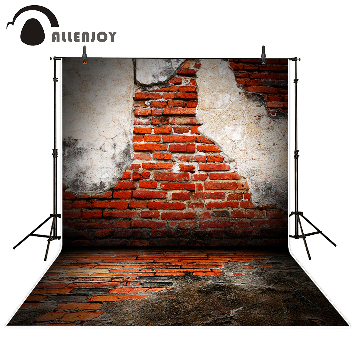 Allenjoy photography background shabby brick wall and floor  photo backgrounds for photos background photography backdrop vinyl