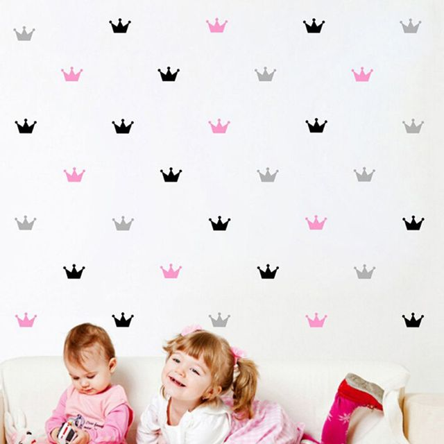 15PCS/Set Free Shipping Crown Wall Sticker Princess Baby Girls Wall Decor  Pattern Wall Paste