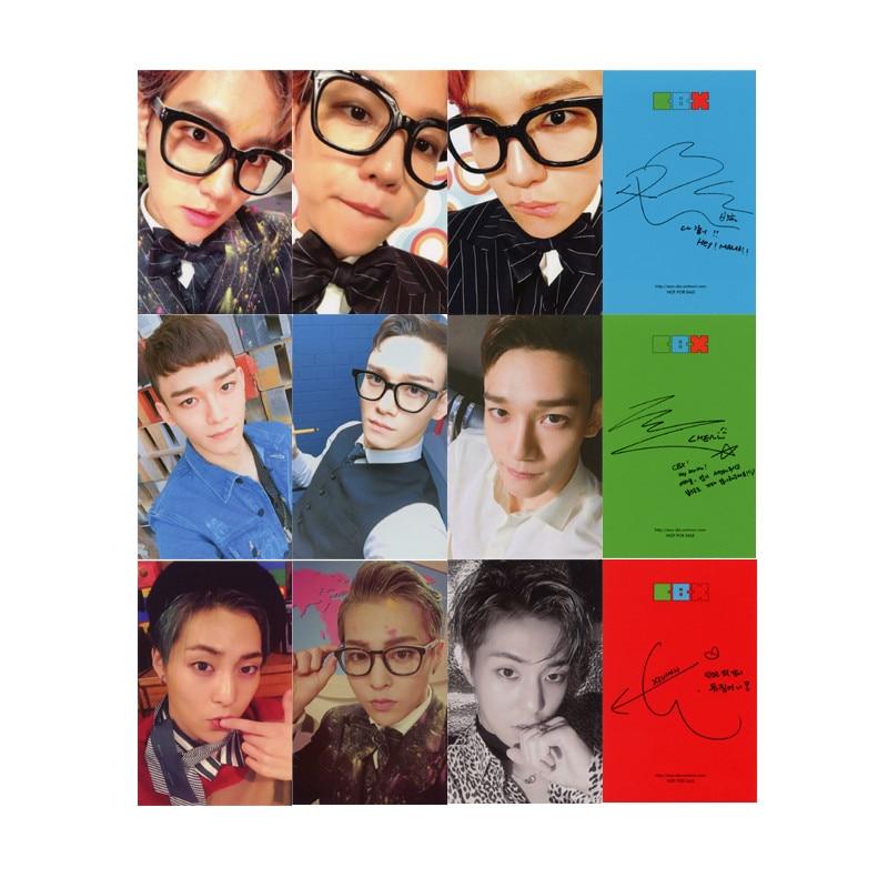 Youpop KPOP EXO CBX Hey Mama Album Photo Card K-POP Self Made Paper Cards Autograph Photocard XK388