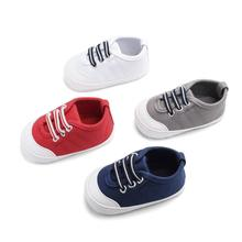 Spring and Autumn New Boys and Girls Baby shoes Rlastic Band Baby 0-1 Soft Bottom toddler Shoes Sewing line solid color Canvas S my baby s blues band
