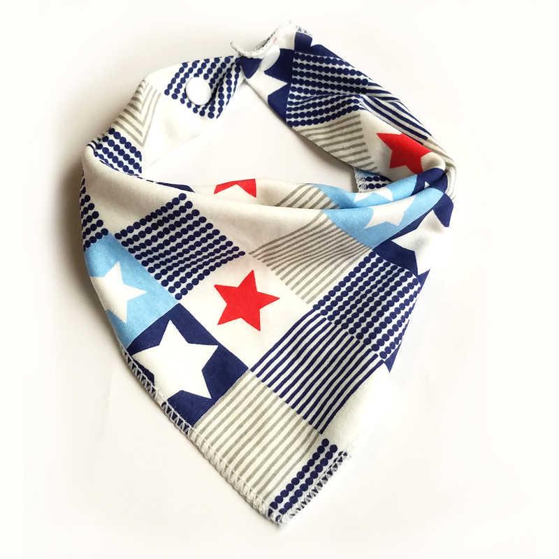 Baberos de bebé para niño y niña bandana babero Burp paño estampado animal triángulo algodón bebé bufanda Collar de comida alimentación bebé accesorios