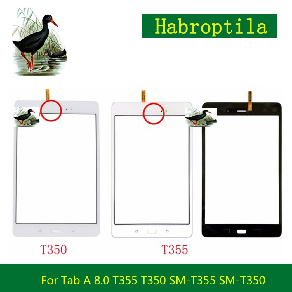 8.0 For Samsung Galaxy Tab A 8.0 T355 T350 SM-T355 SM-T350 Touch Screen Tablet Digitizer Sensor Front Outer Glass Lens Panel