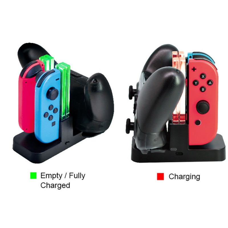 Upgrade Version! USB Game Controller Handle Charger Colorful for Switch Four Charge Plastic for Pro handle charger base