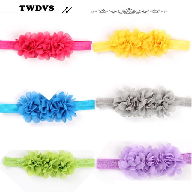 1PC  Flower Headband Children Headwear Pearl Infant Toddler Girls Headbands Kids Hair Bands Accessories w-01 1