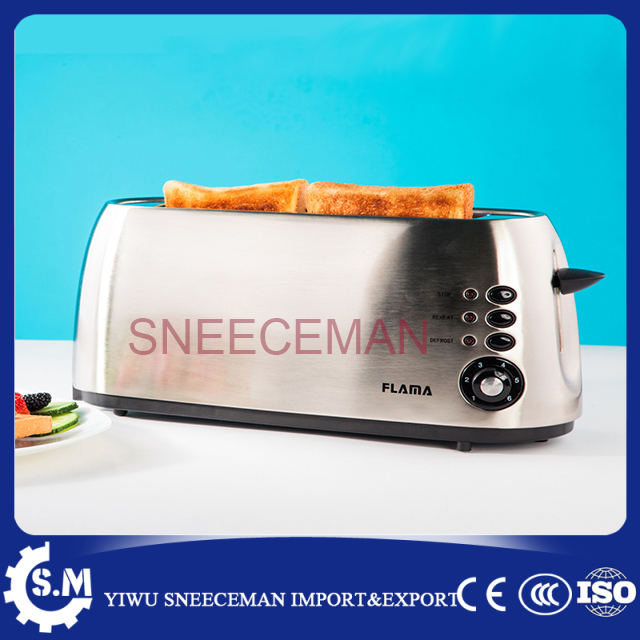 2 pcs bread baking machine Stainless household toaster2 pcs bread baking machine Stainless household toaster