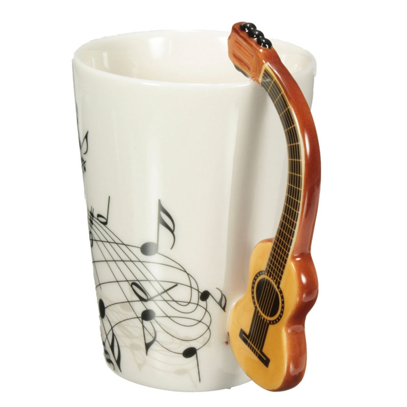 Musical Notes Design Ceramic Drink Tea Coffee Mug Cup Acoustic