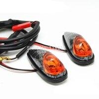2x Universal Motos LED Turn Signal Indicadores Piscando Luz Âmbar Alto-brilho de luz lados