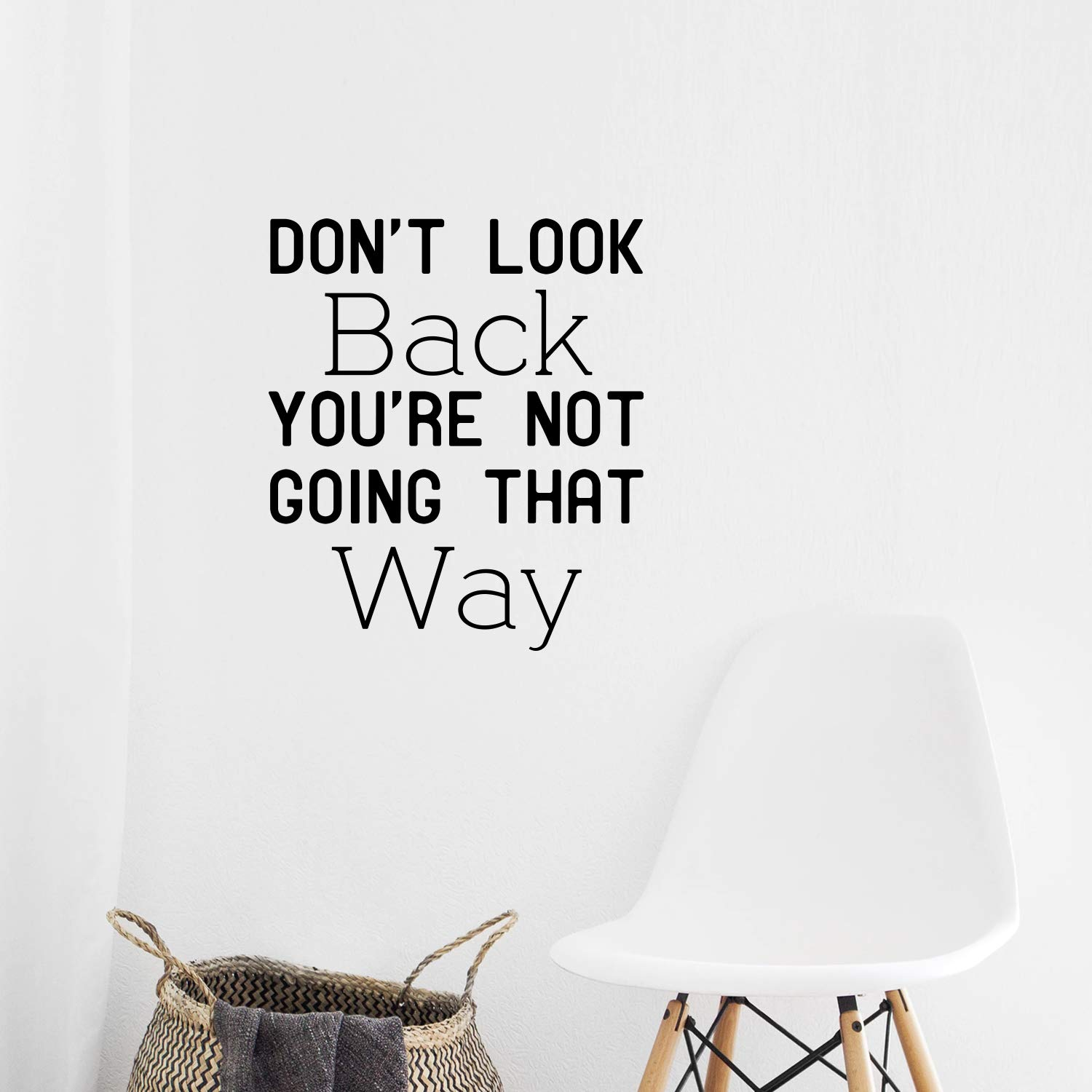 Diy don't look back Cartoon Wall Decals Pvc Mural Art Diy Poster Decor Living Room Bedroom Removable Wall Decoration