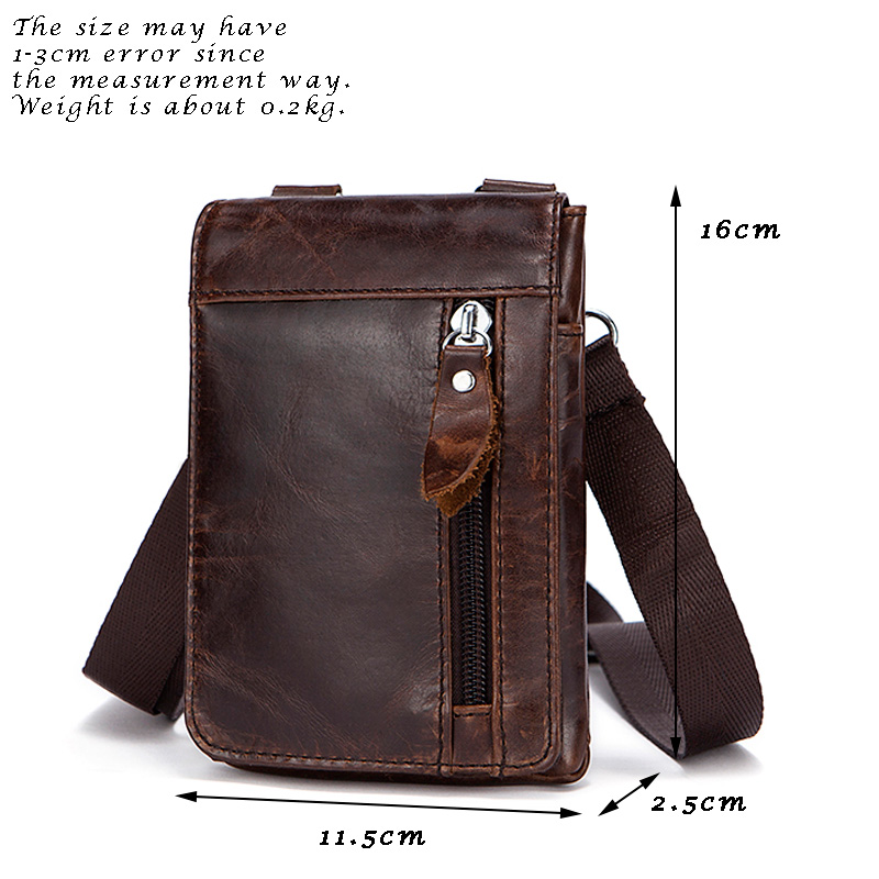 Hengsheng fashion small men shoulder bags with top quality genuine leather men messenger bag for casual male shoulder bag 3