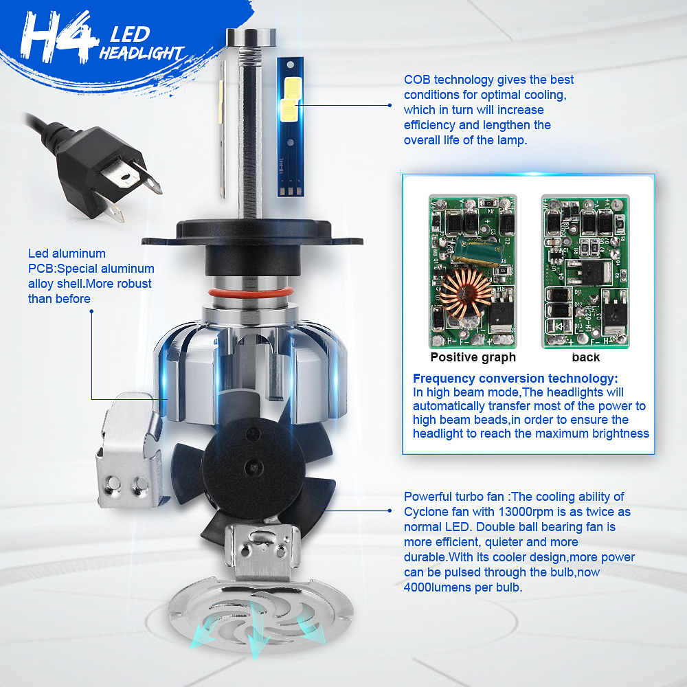 COB LED Hightlight Λαμπτήρες Kit H1 H3 H7 H8 / H9 / H11 - Φώτα αυτοκινήτων - Φωτογραφία 3