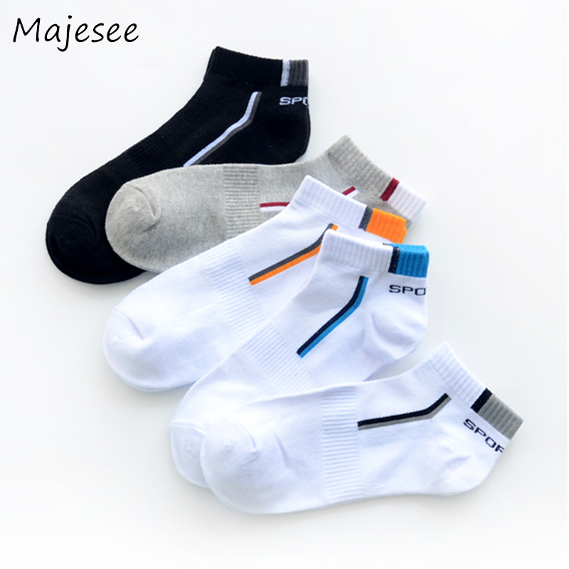 Men Ankle Socks Cotton Thin Mens Sock Solid Color Male Breathable Soft Students Patchwork Deodorant New Fashion Korean Style