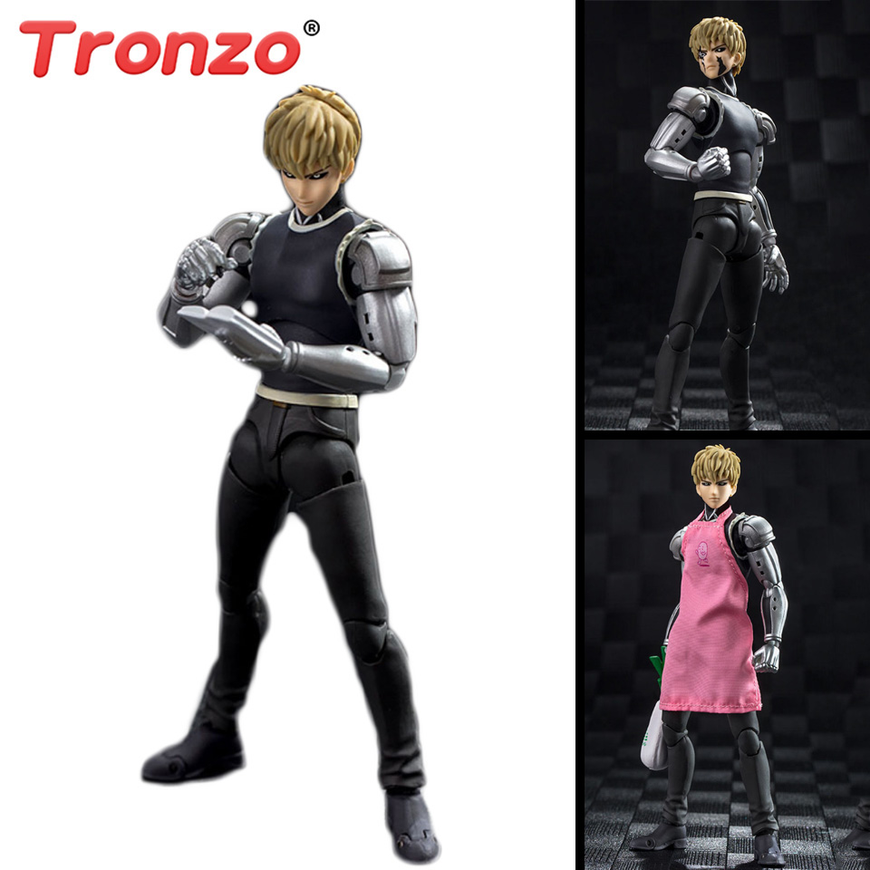 все цены на Tronzo Action Figure 15cm One Punch Man Figure PVC SHF Genos Figure Toys Hero Saitama GT Collectible Model Gift For Boy Girl онлайн