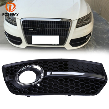 POSSBAY Right Side Car Fog Light Lamp Cover Lower Bumper Grille for Audi Q5(8R) MK1 2008-2012 Pre-facelift Auto Replacement