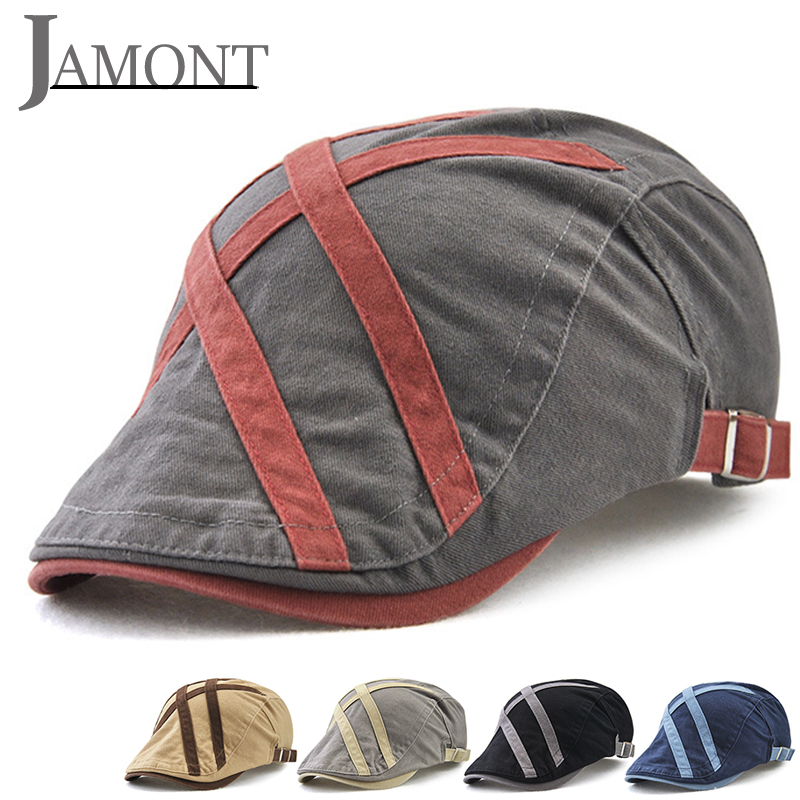 JAMONT Summer Berets Caps for Men Casual Peaked 2018 NEW Retro French Flat Hats Homme Golf Driving Newsboy Gatsby Casquette Caps
