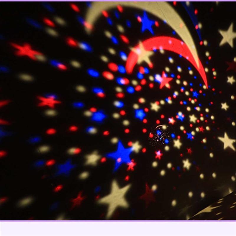 Novelty Stars Starry Sky LED Night Light Projector Luminaria Moon Novelty Table Night Lamp Battery USB Night light For Children