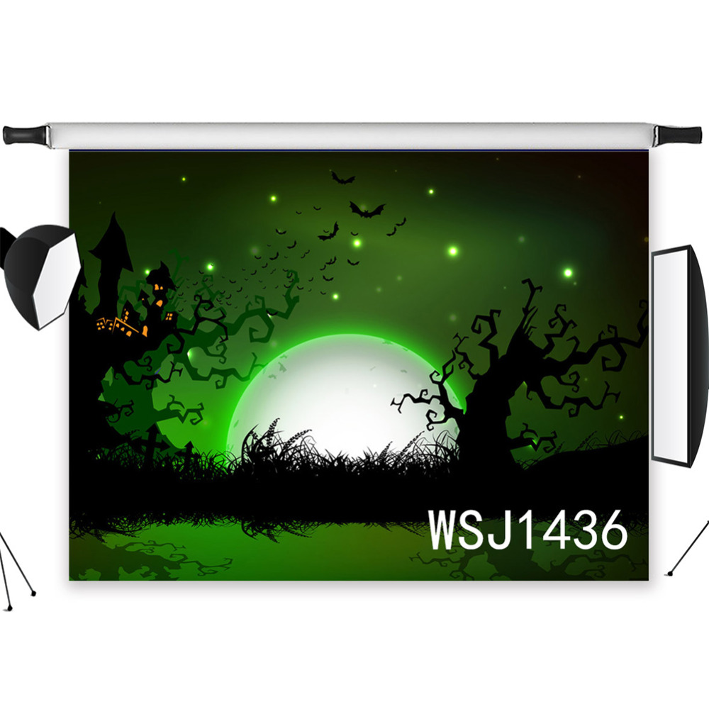 Garden Swing Moonlight Vinyl Photography Background Halloween Fair Tale Photography Backdrops For Photo Studio Stage Camera & Photo Consumer Electronics