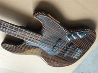 Electric guitar/top quality electric bass guitar Zebra wood body and neck/guitar in china
