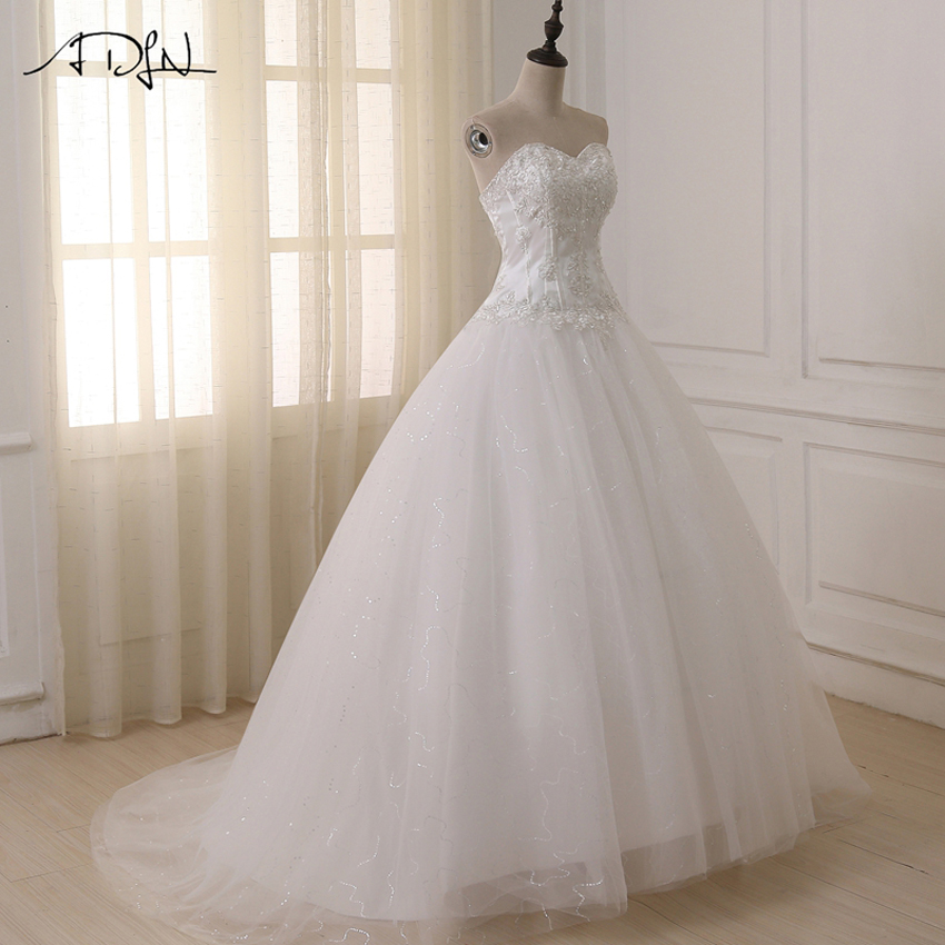 ADLN Bröllopsklänningar Vestidos de Novia Off Shoulder Sweetheart - Bröllopsklänningar - Foto 4