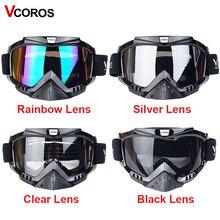 Vcoros MOTOCROSS Occhiali di protezione del Casco Aperto del motociclo del fronte Occhiali occhiali Motocross Scooter Cruiser Casco Occhiali Occhiali da neve